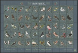 Denmark 1965, Full Sheet, Julemaerke, Christmas Stamp. - Full Sheets & Multiples