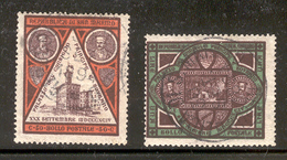 SAN MARINO 1894 Scott Cat. No(s). 30-31 Used (Short Set, High Values) - San Marino