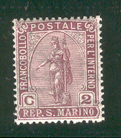 SAN MARINO 1899 Scott Cat. No(s). 32 MH - San Marino