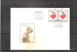 Enveloppe De Tchéquie - Amour - Coeur - 1998 (à Voir) - Tchéquie