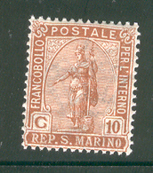 SAN MARINO 1922 Scott Cat. No(s). 36 MH - San Marino