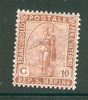 SAN MARINO 1922 Scott Cat. No(s). 36 MH - Unused Stamps