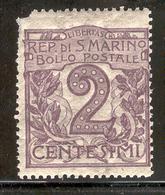 SAN MARINO 1903 Scott Cat. No(s). 40 MH - San Marino