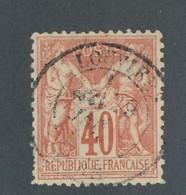 FRANCE - N°YT 70 OBLITERE AVEC CAD LOUVIERS - COTE YT : 35€ - 1878 - 1876-1878 Sage (Type I)