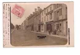 79 St Saint Maixent Cpa Carte Photo Lacaze Avenue Gambetta Magasin Humbert Tailleur , Librairie Foret Cachet 1905 - Saint Maixent L'Ecole
