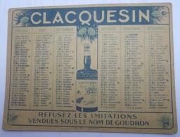 Calendrier De Poche 1930 CLACQUESIN Le Plus Sain Des Apéritifs - Calendriers