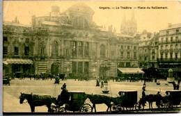 ANGERS Le Théâtre Place Du Ralliement Belle Animation CPA Ecrite En 1908 TBE - Angers