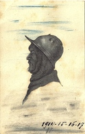 *CPA - Carte Artisanale Réalisé Par Collage - Support Carte Italienne - Guerre 1914-18