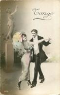 DANSE TANGO CARTE GLACEE  AVEC CACHET AU VERSO MARINE FRANCAISE SERVICE A LA MER  1915 - Danse