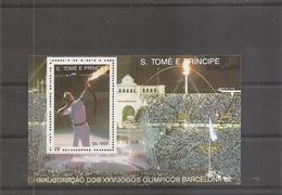 JO De Barcelone -1992  ( BF 137B  XXX -MNH- De Saint-Thomas Et Prince) - Estate 1992: Barcellona