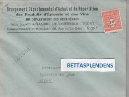 LSC - NIORT (Deux Sèvres) Grp.Départ.d'Achat Et Répartition Des Produits D'Epicerie Et Des Vins - YT 708 Seul Sur Lettre - 1921-1960: Periodo Moderno