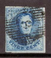 BÈLGICA-Yv. 11 - Mi. 8 -Sans Filigrane - Ohne Wz. -N-12201 - 1858-1862 Medaillen (9/12)