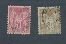 FRANCE - N°YT 104/05 OBLITERES - COTE YT : 100€ - 1900 - 1898-1900 Sage (Type III)