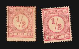 NVPH #30C #30E  MLH ONGEBRUIKT MH AND MINT NO GUM  CATALOGUE VALUE EURO 35 (A_4272) NETHERLANDS NEDERLANDS - Ongebruikt
