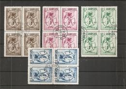 Albanie ( 482/485 En Blocs De 4 Oblitérés) - Albanien