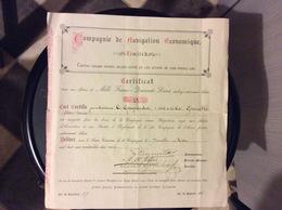 ACTION COMPAGNIE DE NAVIGATION ÉCONOMIQUE  Mille Francs  Quarante Livres Sterlings  GLASGOW - Navigation
