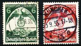 3. REICH 1935 Nr 586X-587X Gestempelt X5CE79E - Allemagne