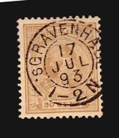 NVPH #43 USED GEBRUIKT SON CANCEL STEMPEL GRAVENHAGE 1893 (A_4272) NETHERLANDS NEDERLANDS - Gebruikt