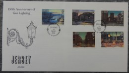 Jersey 1981 Anniversary Gas Light FDC 5 Values  First Day Cover - Jersey