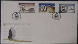 Jersey 1985 Europa Music Year FDC 3 Values  First Day Cover John Ireland Debussy Ivy St Helier - Jersey