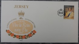 Jersey 1993 Coronation 1 Value £1  Royalty QEII Harbour Yacht Britannia - Jersey