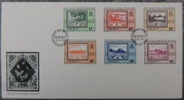 Jersey 1993 Occupation Blampied FDC 6 Values  Stamp On Stamp Postal History - Jersey