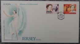 Jersey 1996 Europa Famous Women FDC 2 Values  Medical Suffragette Ballet Dancing - Jersey