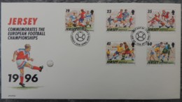 Jersey 1996 European Football Championships FDC 5 Values  Sport - Jersey