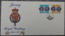 Jersey 1999 Royal Wedding FDC 2 Values  Royalty Edward Sophie - Jersey