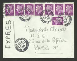Lettre Exprès / MENTON 14.03.1968 / Affr. Tout En Cheffer - 1967-70 Marianne Of Cheffer
