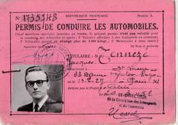 Permis De Conduire Les Automobiles 1952  Titulaire Tennezé    St Maur (94) - Vieux Papiers