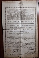 LAISSER-PASSER L'AN 4 MONTIVILLIERS LE HAVRE SEINE-INFERIEURE PRETRE LOUIS CHARLES RECULARD PASSEPORT Beau Cartouche - Historische Documenten
