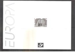 Feuillet N/B Avec Cachet à Sec De La Poste - Europa 2002 - Feuillets Noir & Blanc