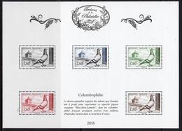 """FRANCE 2018 / BS50 """"TRESORS DE LA PHILATELIE-Colombophilie """" 5ème ENSEMBLE DE 10 BF / NEUF RARE.. - Blocs & Feuillets"""