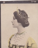 CAVALIERI. COLORISE. HABANILLOS LA PLATA. CARD TARJETA COLECCIONABLE HABANOS. CIRCA 1915 SIZE 4.5x5.5cm - BLEUP - Célébrités