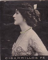 CAVALIERI. COLORISE. CIGARRILLOS FE. CARD TARJETA COLECCIONABLE TABACO. CIRCA 1915 SIZE 4.5x5.5cm - BLEUP - Berühmtheiten
