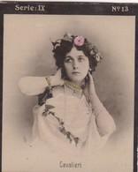 CAVALIERI. COLORISE. HABANILLOS LA PLATA. CARD TARJETA COLECCIONABLE TABACO. CIRCA 1915 SIZE 4.5x5.5cm - BLEUP - Berühmtheiten