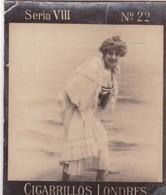 FEMME. CIGARRILLOS LONDRES. DANKELMAN.... COLORISE. CARD TARJETA COLECCIONABLE TABACO. CIRCA 1915 SIZE 4.5x5.5cm - BLEUP - Personnes