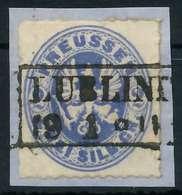 PREUSSEN Nr 17a Zentrisch Gestempelt Briefstück X86D852 - Preussen