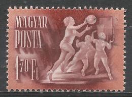 Hungary 1950. Scott #923 (U) Basketball * - Oblitérés