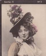 HELD. HABANILLOS LA PLATA. COLORISE. CARD TARJETA COLECCIONABLE TABACO. CIRCA 1915 SIZE 4.5x5.5cm - BLEUP - Célébrités