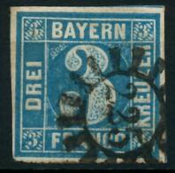 BAYERN QUADRATE Nr 2II GMR 225 Gestempelt X87E64A - Bavaria
