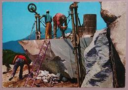 CARRARA - CAVE DI MARMO / Taglio Con Filo Elicoidale / Cut With Helicoidal Wire - Marble - Marmo  Nv - Carrara