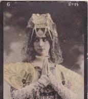 CLEO DE MEROD. COLORISE. CARD TARJETA COLECCIONABLE TABACO. CIRCA 1915 SIZE 4.5x5.5cm - BLEUP - Célébrités