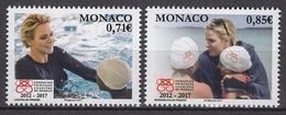 MONACO 2017  SERIE /Y. T. N°3078 / 3079- ( 5 ANS DE LA FONDATION PRINCESSE CHARLENE DE MONACO) - NEUFS ** - Nuovi