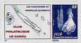 Nouvelle Caledonie Timbre Poste Personnalise Cagou Ramon Oiseau Bleu Prive Cagousiens De NC Neuf Avec Support 2009 Unc - Non Classificati