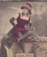 AGNES EVANS. COLORISE. CARD TARJETA COLECCIONABLE TABACO. CIRCA 1915 SIZE 4.5x5.5cm - BLEUP - Célébrités