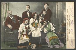 GERMANY / ITALY. 1913. MUSIC. ITALIAN ENSEMBLE SANTA LUCIA. DOMENICO ARCARI. ERNST SCHMIDT & Co OF LUBECK. - Cartoline