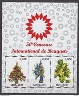 MONACO 2017  - BLOC /Y. T. N°3084 A 3086 ( 50e CONCOURS INTERNATIONAL DE BOUQUETS ) - 3 TP NEUFS ** - Blocchi