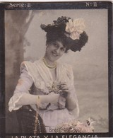 BRESTIL. HABANILLOS LA PLATA. COLORISE. CARD TARJETA COLECCIONABLE TABACO. CIRCA 1915 SIZE 4.5x5.5cm - BLEUP - Célébrités